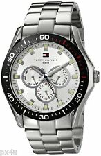 NIB Tommy Hilfiger Men's 1790606 Multi-Function Stainless Steel Bracelet Watch