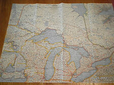 1963 MAP OF CENTRAL CANADA NATIONAL GEOGRAPHIC SOCIETY