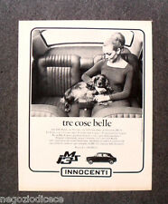 N598 - Advertising Pubblicità - 1968 - INNOCENTI JM 3 S