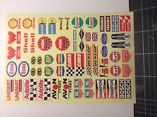 Rc car moto sponsor decals stickers 1/10 1/8 glossy vinyl A4 size No.1003