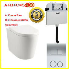 In Wall Toilet Suite New Ceramic S&P trap Soft Close Seat Concealed Cistern