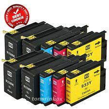 10pk 932XL 933XL Ink Cartridge For HP OfficeJet 6100 6600 6700 7110 7610 7612
