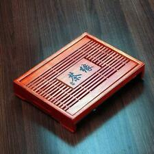 """Handmade Carved Chinese Bamboo Gongfu Tea Table Serving Tray 13"""" * 10"""""""