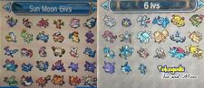 COMPETITIVE ALOLA PACK 2 Pokemon shiny 6IVs and EVS trained Sun and Moon