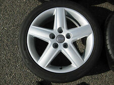 "GENUINE 17"" AUDI A3 A4 SPORT 5 SPOKE ALLOY WHEELS + TYRES VW T4 CADDY VAN A6 A8"