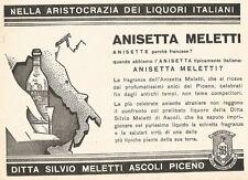 W2899 ANISETTA MELETTI nella aristocrazia dei... - Pubblicità del 1937 - Old ad