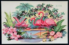 1950 1960 Vintage FLORIDA PINK FLAMINGO Window Decal MID-CENTURY MODERN Art Deco