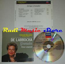 CD DE LARROCHA Granados Danze spagnole GRANDI INTERPRETI DECCA lp mc dvd vhs