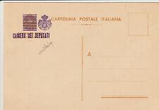 CARTOLINA POSTALE ITALIANA soprastampata CAMERA DEI DEPUTATI - Nuova