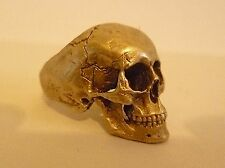 Full jaw skull ring ring  amazing detail solid 9ct Gold hallmarked UK made