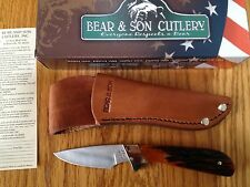 Bear & Son INVINCIBLE SKINNER KNIFE INDIA RED STAG BONE HANDLE USA MADE RSB82