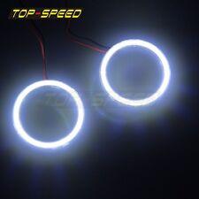 COB 12V-24V DC 72mm LED Car Motorcycle Angel Eyes Halo Ring Bulb Light White New