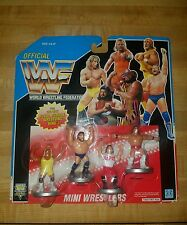 1991  WWF MINI WRESTLERS 7393 ACTION FIGURES FOR ROYAL RUMBLE RING nip.
