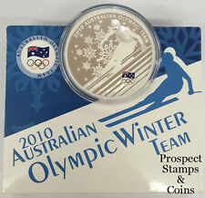 2010 Australian Olympic Team Winter Olympics 1oz Silver Proof Dollar Coin