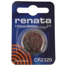USA Authrized Dealer 1 one Renata CR2320 Lithium Battery 2320 Watch NEW