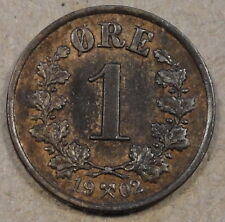 Norway 1 Ore 1902 Borderline Unc with some Red