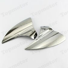 Chrome Saddle Shield Heat Deflector For Harley 2009-2016 Road King Street Glide