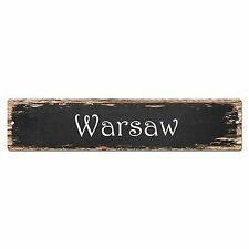 SP0175 Warsaw Street Sign Bar Store Shop Pub Cafe Home Room Chic Decor