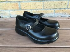 Dansko Black Leather Mary Janes Clogs Shoes Women's Size 36 US 5.5 - 6