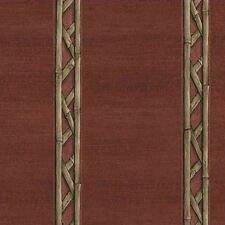 Bamboo Look Stripe Wallpaper - Red  8064232