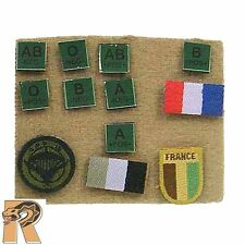 French Special Force - Patches Set - 1/6 Scale - Soldier Story Action Figures