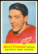 1957 58 TOPPS HOCKEY #43 MARCEL PRONOVOST EX-NM DETROIT RED WINGS FREE SHIP USA