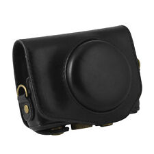 New PU Leather Case Bag Cover for Canon G7X 1 Digital Camera with Strap Black
