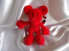Doudou souris Mickey, rouge, neuf, Disney, Nicotoy
