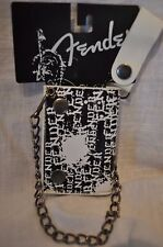 FENDER GUITARS TRI-FOLD CHAIN WALLET LEATHER