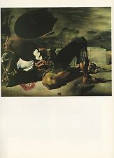 "1976 Vintage SALVADOR DALI ""PHILOSOPHER ILLUMINATED MOON & SUN"" COLOR Lithograph"