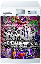Sticker lave vaisselle déco cuisine électroménager Grafitti 720 60x60cm