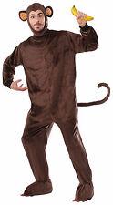 Adult Monkey Costume Full Body Jumpsuit w/ Headpiece Mascot Size Standard