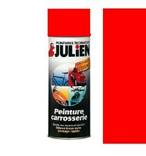 PEINTURE BOMBE CARROSSERIE VEHIDECOR ROUGE VIF JULIEN AUTO MOTO SCCITER VOITURE