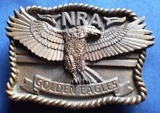 NRA Golden Eagles Belt Buckle,made in U.S.A.Western style