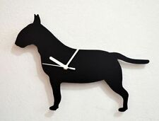 English Bull Terrier Dog Silhouette - Wall Clock