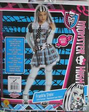 MONSTER HIGH FRANKIE STEIN GIRLS COSTUME BY RUBIES Size M 8-10 DRESS UP! FREE SH