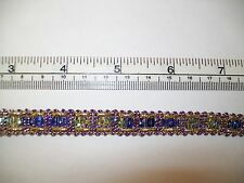 10mm Christmas Lurex and Sequin Trim - Purple and Gold  - 1m Length
