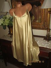 Petra Fashions Gold nightgown gown dress lingerie sissy satin Plus size 4X EUC