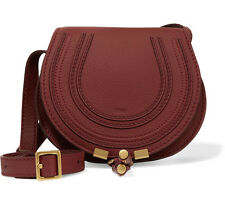 BNWT Chloe Marcie Mini Leather Saddle Burgundy Cross Body Bag