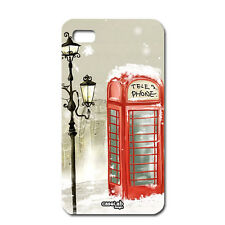 CUSTODIA COVER CASE LONDRA TELEPHONE LONDON SNOW PER IPHONE 5 5S