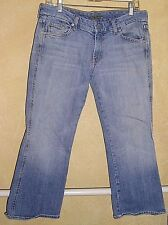 """7 for All Mankind A-Pocket Stretch Jeans Cropped  Cut #702024 Size 32"""" x 23"""""""