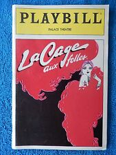 La Cage Aux Folles - Palace Theatre Playbill - January 1984 - George Hearn