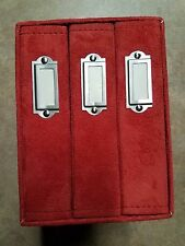 RED FAKE SUEDE SLIP COVER PHOTO 4 PC ALBUM KIT HOLDS 120 PICTURES 4 x 6