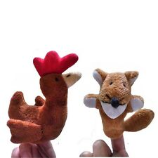 2 pc Fox And Hen Kids Educational Toy  Hand Puppet Finger Puppets Set Story Toys
