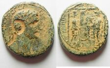 ZURQIEH -id5- HUGE FLAN: JUDAEA. HERODIAN DYNASTY. AGRIPPA I WITH CALIGULA (37-4