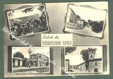 Lazio. STIMIGLIANO SCALO, Rieti. Saluta da. Cartolina d'epoca viaggiata.