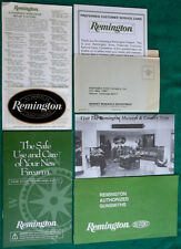 Lot Of Vintage Remington Warranty Service Center Papers With Sticker/Decal