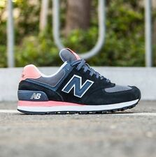 NEW BALANCE WOMEN 574 NEW BALANCE WL574CPL (BLACK / GUAVA / GREY) 10B