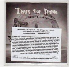(FC798) Tears For Annie, Purple Hearts - 2013 DJ CD