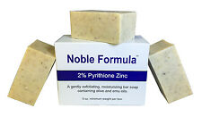 Noble Formula 2% Pyrithione Zinc (ZnP) Bar Soap - for Psoriasis, Eczema - 3 Pack